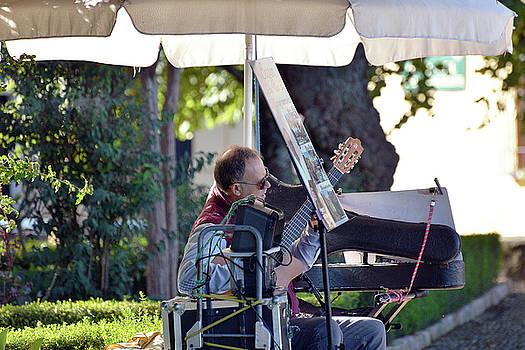 Harvey Barrison - Guitarist in the Plaza Duquesa de Parcent