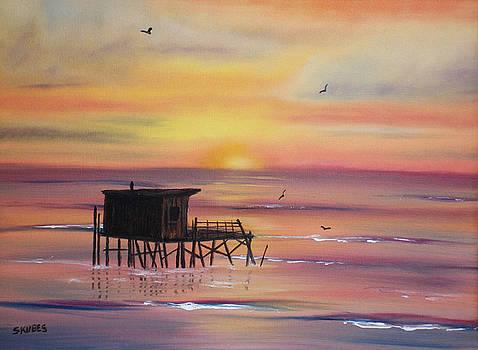 Gulf Coast Fishing Shack by Susan Kubes