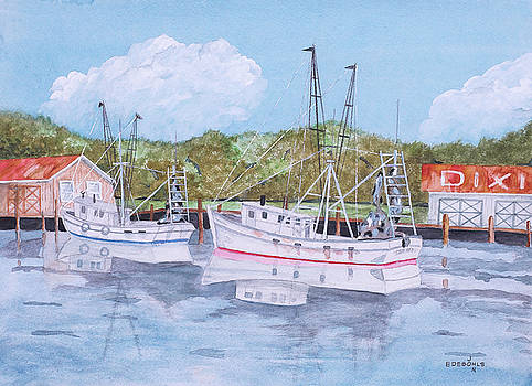 Gulf Coast Shrimpers by John Edebohls