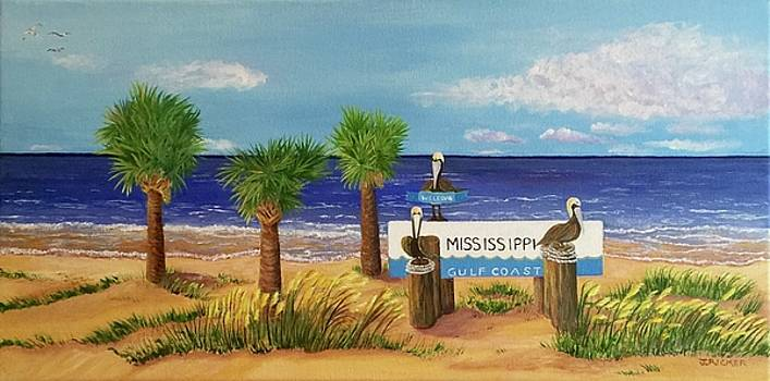 Gulf Shore Welcome by Jane Ricker