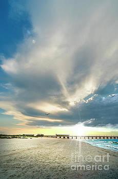 Ricardos Creations - Gulf Shores AL Pier Seascape Sunrise 152A