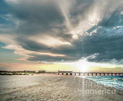 Ricardos Creations - Gulf Shores AL Pier Seascape Sunrise 152C