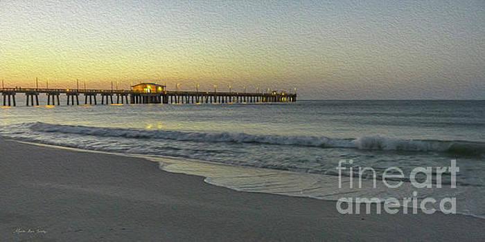 Gulf Shores Alabama Fishing Pier Digital Painting A82518 by Mas Art Studio