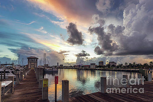 Gulfport Harbor Colors by Joan McCool