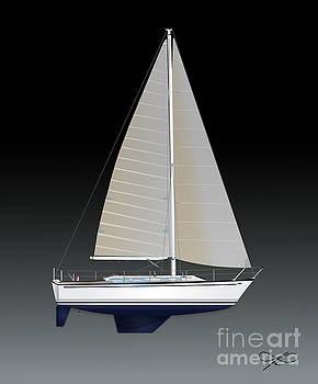 Gulfstar Sailboat by Regina Marie Gallant