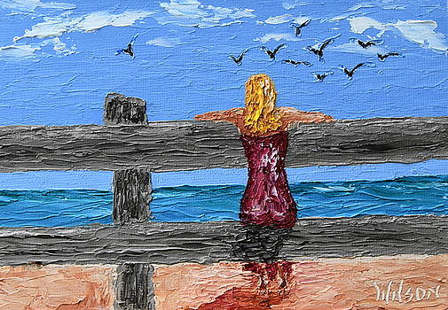 Watching The Gulls by Chrys Wilson
