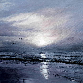 Gulls At Sundown by Jennifer  Blenkinsopp