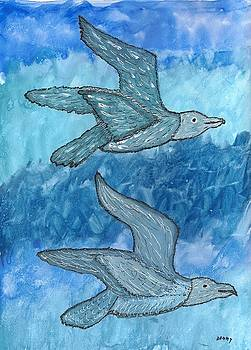 Gulls In Flight by Denise Davis
