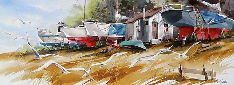Gulls 'n Hulls #2 by Art Scholz