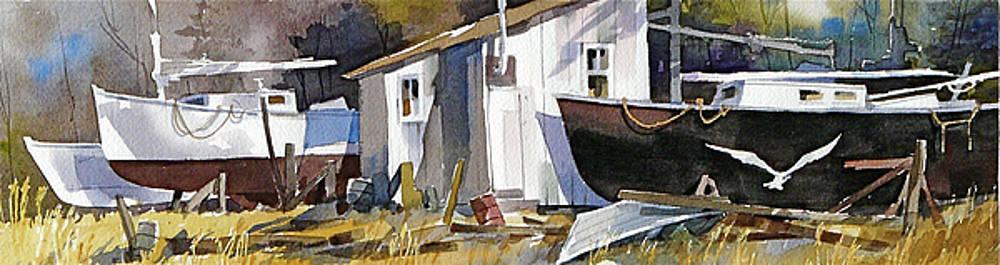 Gulls 'n Hulls by Art Scholz