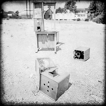 Gumball Machine Destruction in BW by YoPedro