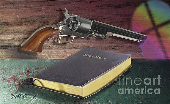 Gun and Bibles by Dale Turner