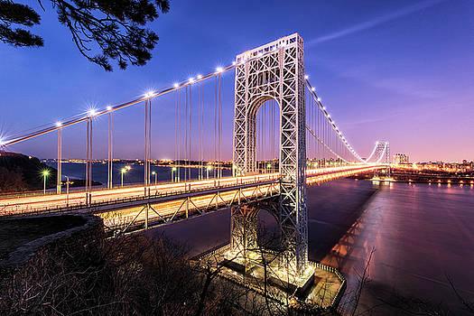 George Washington Bridge Sunset by Marcelo Barrera