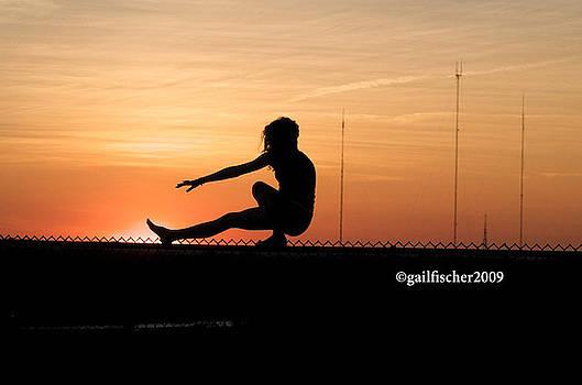 Gymnastics at Millennium Park at Sunset by Gail Fischer