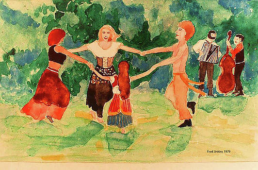 Gypsies Dancing by Fred Jinkins