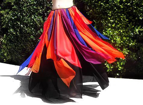 Sofia Metal Queen - Gypsy Ameynra style - multi-clor skirt 246