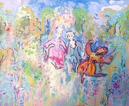 Gypsy dance in the lane  by Judith Desrosiers