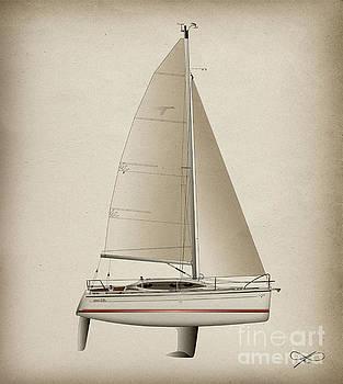 H31 Sailboat by Regina Marie Gallant