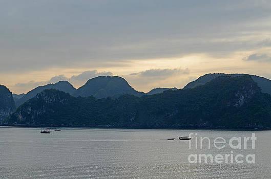 HaLong Bay Sunset  by Tom Wurl