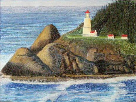 Haceta Head Lighthouse by  Joseph Soulagnet