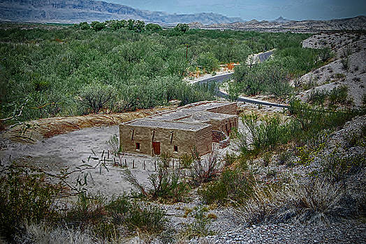 Hacienda in the Desert by Judy Hall-Folde