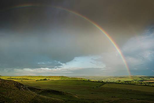 Hadrian's Wall Rainbow by David Taylor