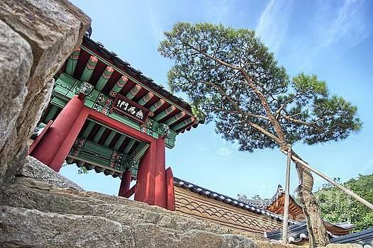 Donghwasa Temple Entrance by Jason Fortenbacher