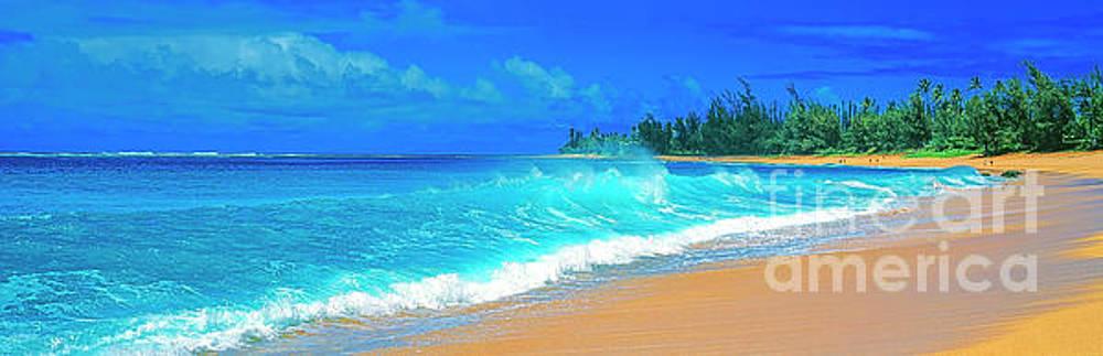 Haensa Beach surf Kauai by Tom Jelen