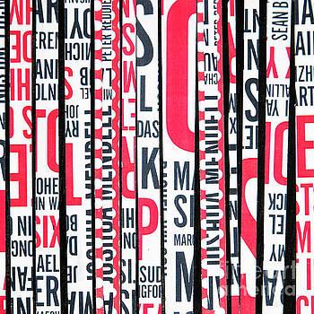 Haiku in red and black by Elena Nosyreva