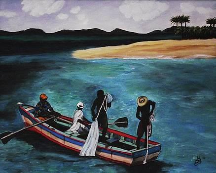 Haitian Fishermen by Kim Selig