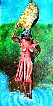 Haitian lady by the water by Neg Ayiti Neg Ayiti