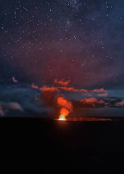 Susan Rissi Tregoning - Halemaumau Crater at Night