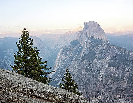 Half Dome Alpenglow by Angie Schutt