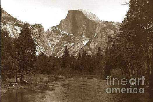 California Views Mr Pat Hathaway Archives - Half Dome and Merced River Yosemite Valley Circa 1900