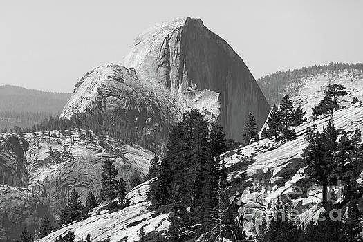 Wingsdomain Art and Photography - Half Dome and Yosemite Valley From Olmsted Point Tioga Pass Yosemite California dsc04221v2bw