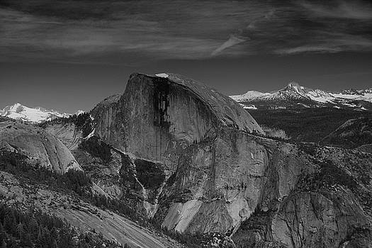 Half Dome from Columbia Rock in Black and White by Raymond Salani III