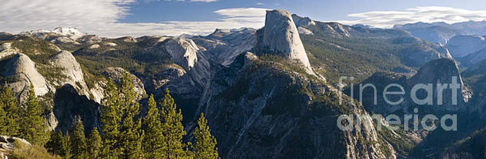Half Dome from Glacier Point, Yosemite by Justin Foulkes