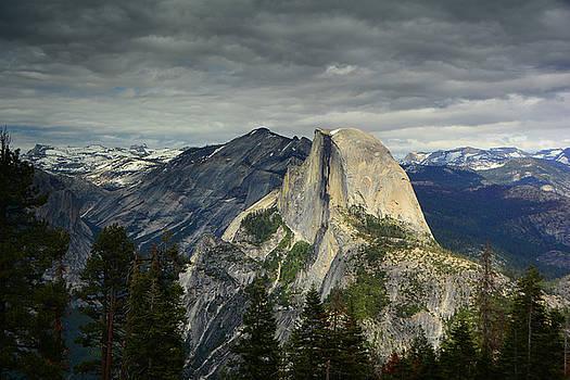 Half Dome from Pohono Trail by Raymond Salani III