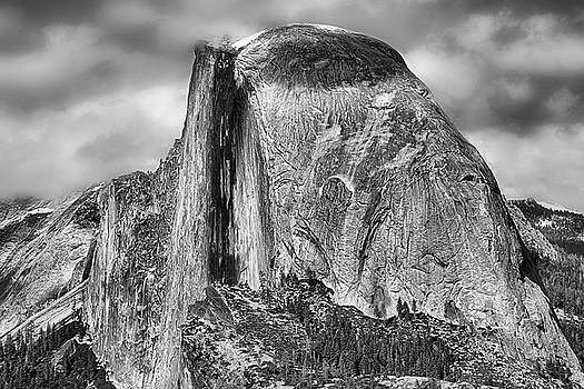 Half Dome in Black and White by JC Findley