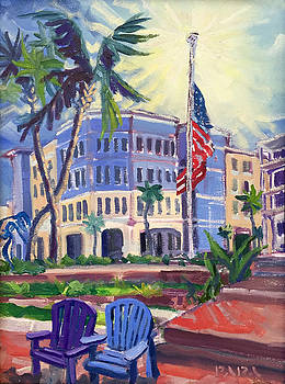 Half Mast at Harbourside Place by Ralph Papa