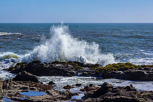 Cal Coast Wave Crash 1 by Randy Bayne