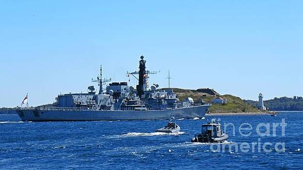 John Malone - Halifax Nova Scotia Harbor with Naval Vessel taking part in NATO exercises