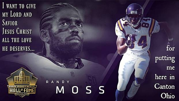 Hall Of Fame 2018 Randy Moss by David Norman