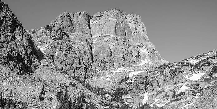 Hallett Peak In Black And White by Michael Putthoff