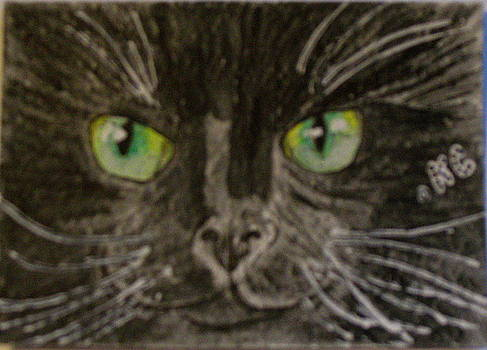 Halloween Black Cat I by Kathy Marrs Chandler