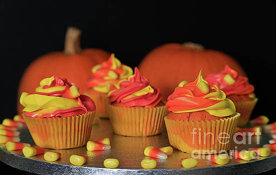 Halloween Candycorn Cupcakes by Tracy Hall