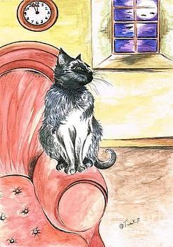 Halloween Cat by Teresa White