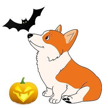 Kathy Kelly - Halloween Corgi Cartoon