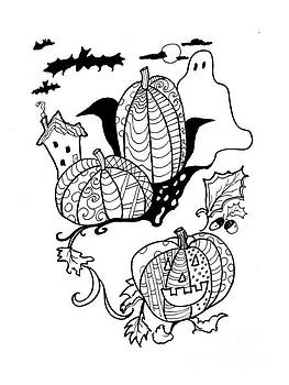 Robin Maria Pedrero - Halloween Ink Coloring Book Image