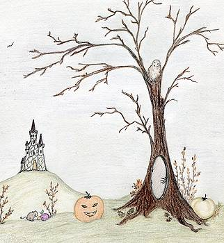 Halloween Landscape by Christine Corretti